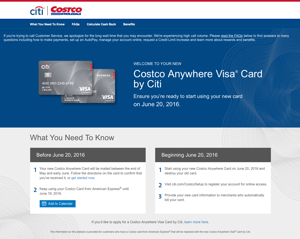 CitiBank Visa website fails Costco members